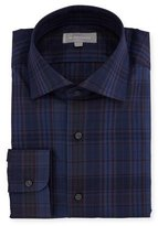 Neiman Marcus Overdye Plaid Dress Shirt