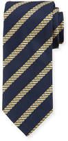 Brioni Cable-Stripe Silk Tie