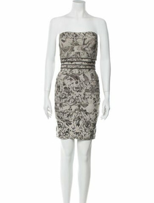 Herve Leger Oriana Mini Dress Grey