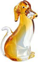 Dale Tiffany Dale TiffanyTM Amber Dog Art Glass Figurine