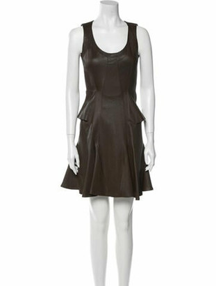 Givenchy Lamb Leather Mini Dress w/ Tags Brown