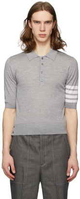 Thom Browne Grey Merino 4-Bar Polo