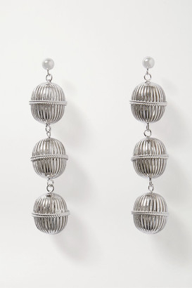 Soft Mountains - Waterfall Rhodium-plated Earrings - Silver