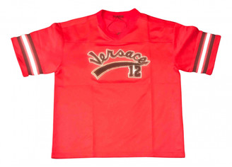 Versace Red Cotton T-shirts