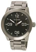 Nixon The Corporal SS Watch - Men's Gunmetal/Green Oxide, One Size