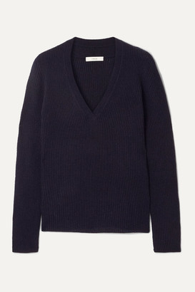 Vince Ribbed Cashmere Sweater - Navy