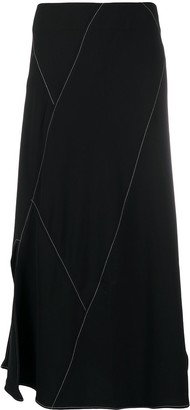 REJINA PYO Contrast Stitch Detail Skirt