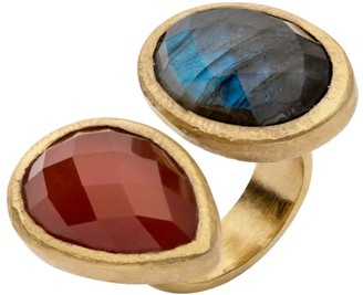 Jaipur Labradorite And Onyx Ring