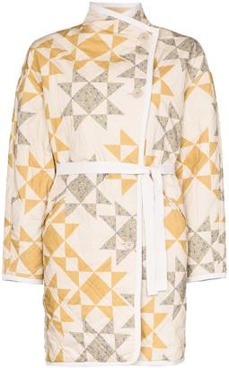 Etoile Isabel Marant Sandrine geometric quilted jacket