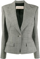 Alexandre Vauthier checked structured blazer
