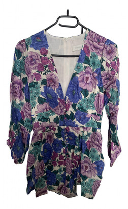 Zimmermann Purple Linen Jumpsuits