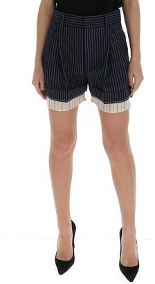 Chloé Contrast Pinstripe Shorts
