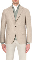 Brunello Cucinelli Regular-fit Textured Wool And Silk Jacket