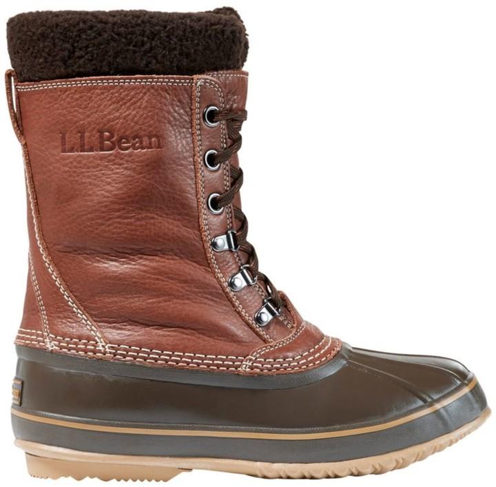 L.L. Bean Men's L.L.Bean Snow Boots with Tumbled Leather