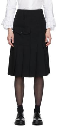 Comme des Garcons Black Pleated Kilt Skirt