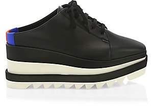 Stella McCartney Women's Elyse Leather Platform Wedge Sneaker Mules