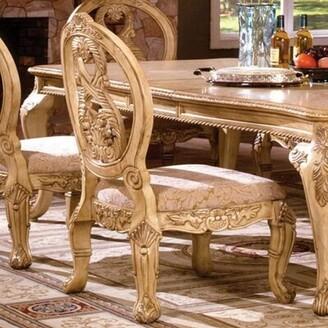Astoria Grand Dematteo Queen Anne back Side Chair in Gold