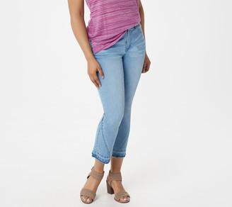 Lisa Rinna Collection Indigo Denim Crop Flare Jeans