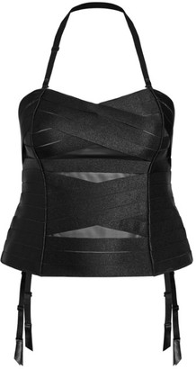 City Chic Satin Bandage Bustier - black