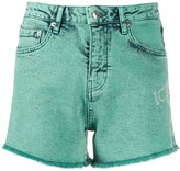 Iceberg frayed edge denim shorts
