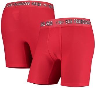 Men's Concepts Sport Scarlet San Francisco 49ers Zest Boxer Briefs
