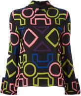 Emporio Armani geometric print blouse