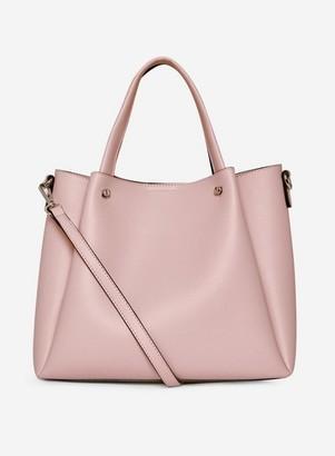 Dorothy Perkins Womens Blush Pleated Tote Bag
