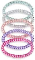 Capelli Girls' Pearlized Coil Hair Rings, Set of 5