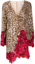 Blumarine leopard print mini dress