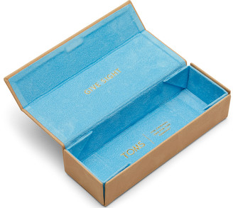 Toms Honey Synthetic Leather Flex Fold Sunglasses Case