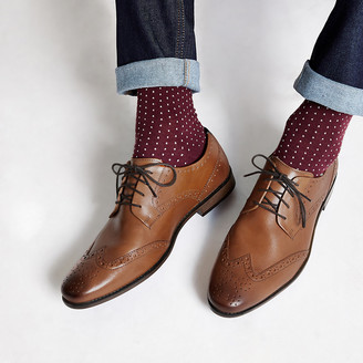 River Island Tan leather lace-up brogues