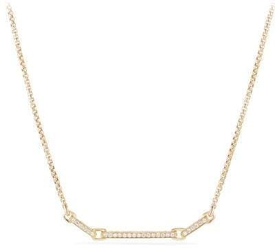 David Yurman Petite Pave Necklace With Diamonds In 18K Gold