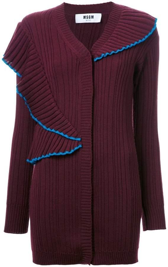 MSGM oversized ribbed cardigan