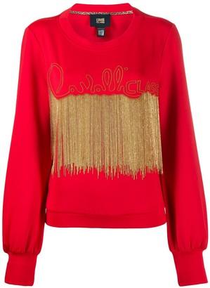 Class Roberto Cavalli Bead-Embellished Sweatshirt