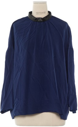 Celine Navy Silk Top for Women
