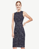 Ann Taylor Petite Refined Tweed Sheath Dress