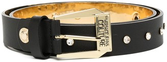 Versace Jeans Couture Logo-Buckle Leather Belt