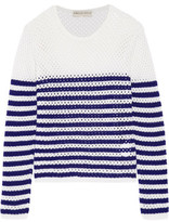 Emilio Pucci Striped Open-Knit Cashmere Sweater