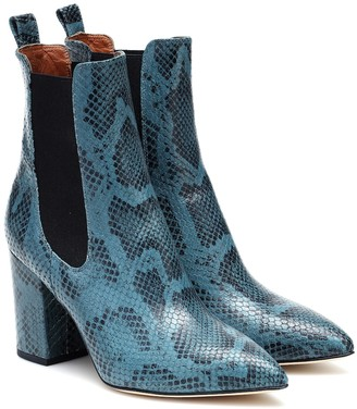 Paris Texas Exclusive to Mytheresa Snake-effect leather ankle boots