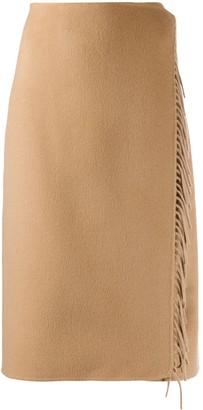 P.A.R.O.S.H. wrap style midi skirt