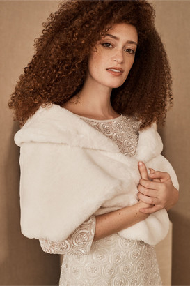 BHLDN Maxime Faux Fur Wrap