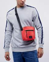 Asos Flight Bag In Red With Patch