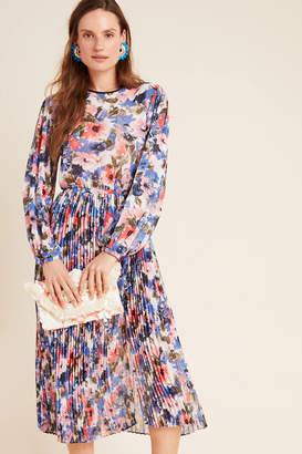 MISA Meadow Pleated Midi Dress