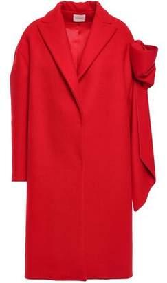 DELPOZO Bow-embellished Wool And Cashmere-blend Felt Coat