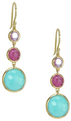 Ippolita Lollipop Lollitini 18K Yellow Gold & Multi-Stone Triple-Drop Earrings