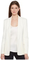 Halston Long Sleeve Jacket w/ Notch Detail Women's Coat