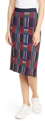 Tory Sport Check Knit Skirt