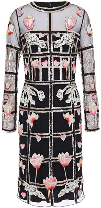 Temperley London Sequin-embellished Embroidered Tulle Dress