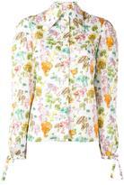 Olympia Le-Tan mushroom print shirt - women - Cotton - 40