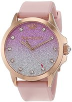 Juicy Couture Daydreamer Women's Quartz Watch with Purple Dial Analogue Display and Pink Rubber Strap 1901406
